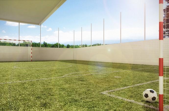 Quadra poliesportiva com gramado (Foto: Divulgação)