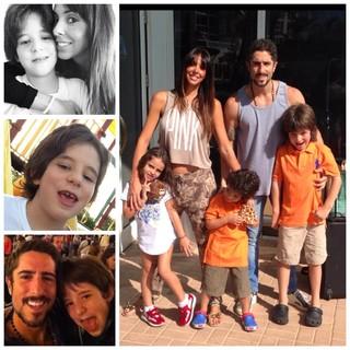 Marcos Mion com a família (Foto: Facebook / Reprodução)