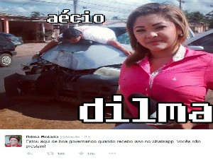 Dilma Bolada publico imagem de simulação (Foto: Reprodução/Twitter)