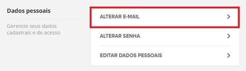 Alterar E-mail Globoplay (Foto: Globoplay)