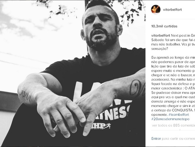 "BLOG: Vitor Belfort desabafa após derrota: ""Fui para o trabalho, mas não trabalhei"""