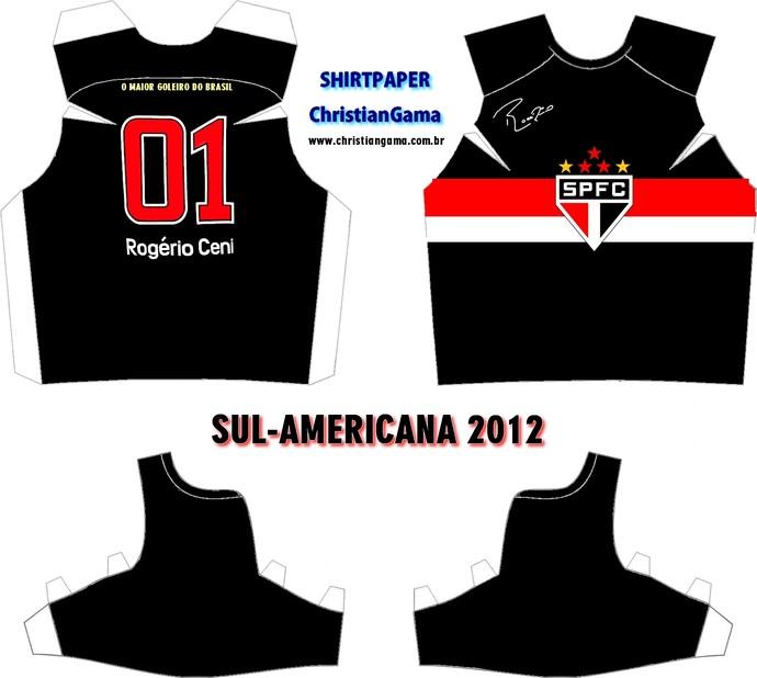 (NÃO USAR) Camisa Rogério Ceni Sul-Americana 2012 (Foto: GloboEsporte.com)