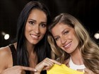 Jaqueline, do vlei, posa com Gisele Bndchen para campanha de xampu