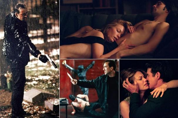 Cenas dos suspenses '8 Milímetros', com Nicolas Cage, e 'Infidelidade', com Richard Gere e Diane Lane (Foto: Divulgação)