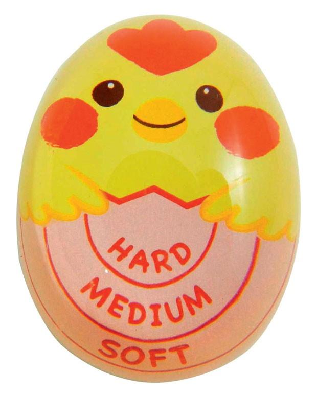 1. Temporizador para ovos | Gema mole, média ou dura? Com o temporizador para cozimento de ovos, você nunca mais vai errar o ponto. Basta colocar o timer na panela junto com os ovos e observar a mudança de cor. Muito fácil! da Daiso, R$ 8,99. (Foto: Divulgação)