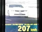 Carro de luxo é multado a 207 km/h na BR-060, em Goiás