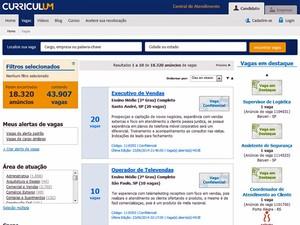 Página da Curriculum (Foto: Reprodução)