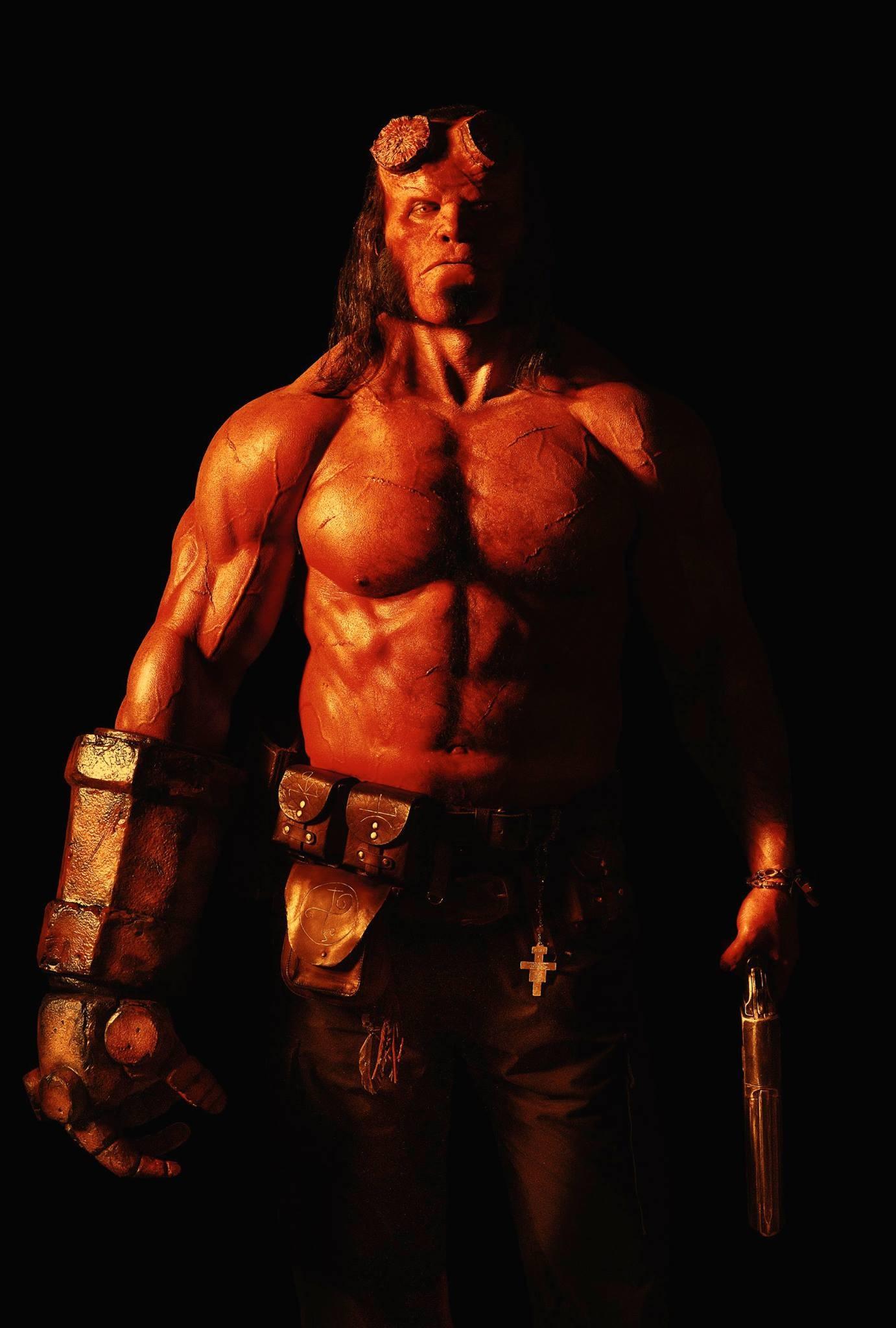 David Harbour como Hellboy (Foto: Divulgao)
