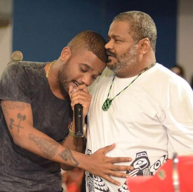 Arlindinho e o pai, Arlindo Cruz (Foto: Reprodução/Instagram)