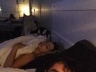 Jorge Sousa mostra foto de Laura Keller dormindo: 'Ela vai me matar'
