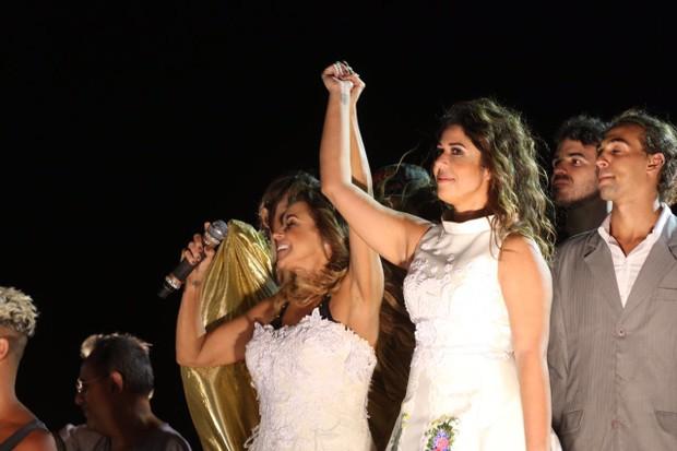 A cantora Daniela Mercury casa com Malu em pleno Carnaval de Salvador (Foto: Alex Yamane /agfpontes/divulgacao)