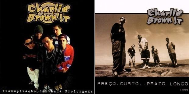 'Transpiração contínua prolongada' (1997) e 'Preço curto... prazo longo' (1999): os dois primeiros discos do Charlie Brown Jr (Foto: Reprodução)
