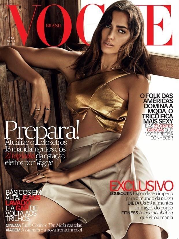 Irina Shayk para Vogue Brasil d agosto de  2014 by Giampaolo Sgura (Foto: Arquivo Vogue)