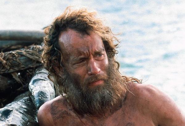 O ator Tom Hanks em cena de O Náufrago (Foto: Reprodução)