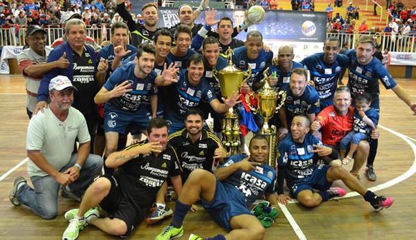 Mesmo com empate, Andradas conquistou a 26ª Taça EPTV de Futsal  (Foto: Filipe Martins)