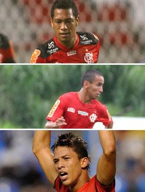 montagem Flamengo Rafinha Hernane Nixon (Foto: Editoria de Arte/Globoesporte.com)