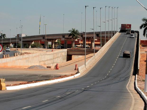 Complexo Viário do Tijucal está entre as obras com atraso (Foto: Edson Rodrigues/Secopa-MT)