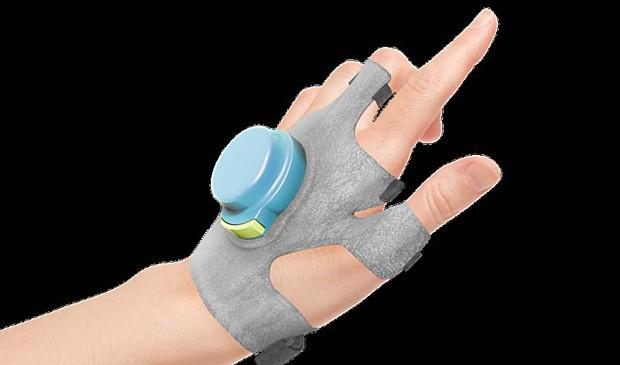 Ilustração mostra protótipo da luva GyroGear, que busca controlar tremores do Parkinson (Foto: GyroGear)