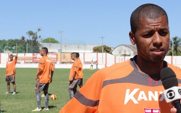 Audálio deve ganhar a vaga de Everton Luís no meio campo (Foto: Henrique Pereira/ Globoesporte.com)