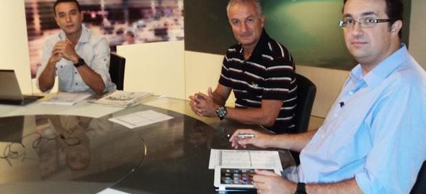 Dorival Júnior, técnico do Flamengo, no Redação SporTV (Foto: Gabriel Benamor/SporTV.com)