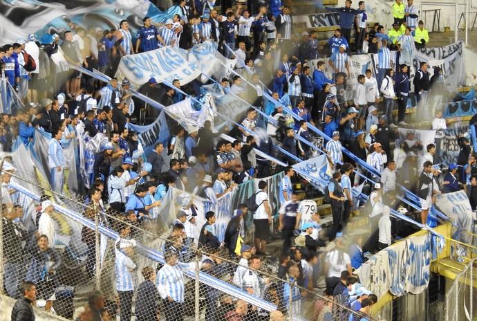 Torcida Atlético Tucuman (Foto: Lucas Loos / GloboEsporte.com)