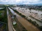 Parque das Águas continua submerso após temporal em Sorocaba