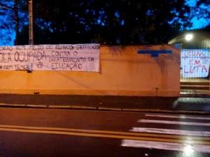 Escola Pedro Moraes Cavalcanti é ocupada e tem aulas suspensas em Piracicaba (Foto: Arquivo pessoal)