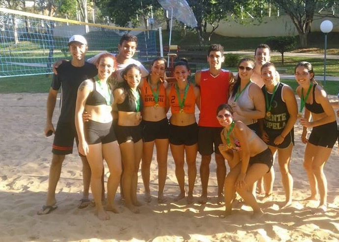 Vôlei de Praia Feminino Atletica Unesp Copa Unesp (Foto: Iara Paganini / Arquivo Pessoal)