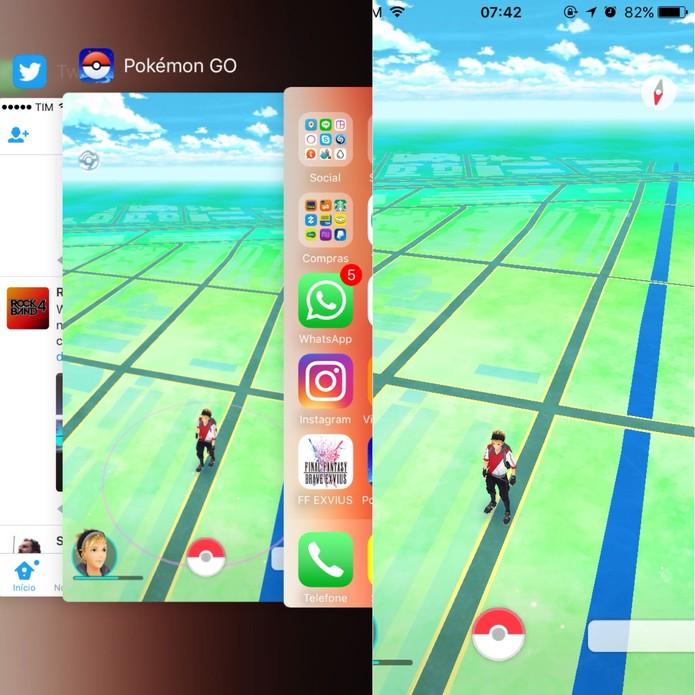 Tente reiniciar Pokémon Go para tentar de novo (Foto: Reprodução/Felipe Vinha)
