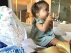 Hugo Moura posta foto da filha e comemora dia dos pais