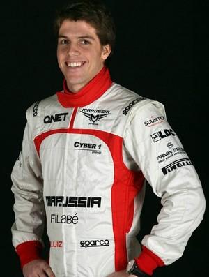 Luiz Razia com macacão da Marussia - Fórmula 1 (Foto: Divulgação)