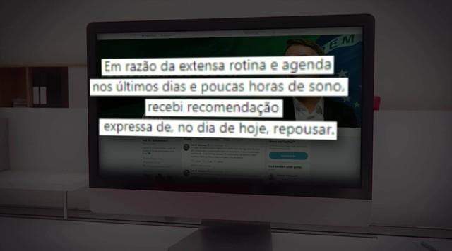 Bolsonaro cancela agenda por recomendação médica