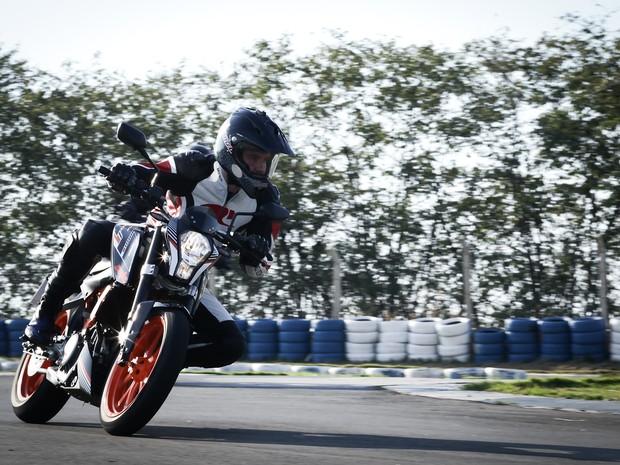 KTM 390 Duke (Foto: Caio Kenji / G1)