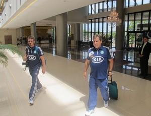 Gilson Kleina Palmeiras Paraguai (Foto: Marcelo Prado)