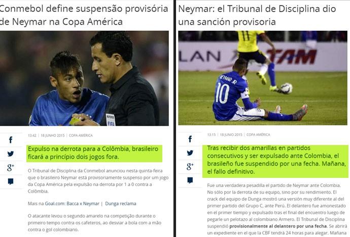 Montagem Neymar Matéria copa américa (Foto: Reprodução)