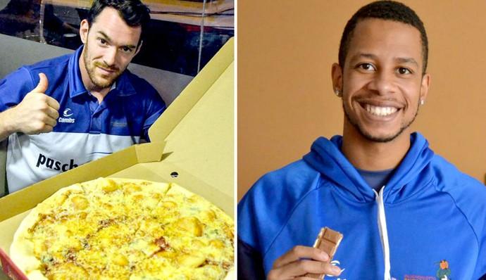 Bauru Basquete, Colômbia, Day, pizza, Carioca, chocolate (Foto: Henrique Costa / Bauru Basket)