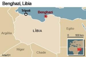 mapa novo Líbia Benghazi (Foto: 1)