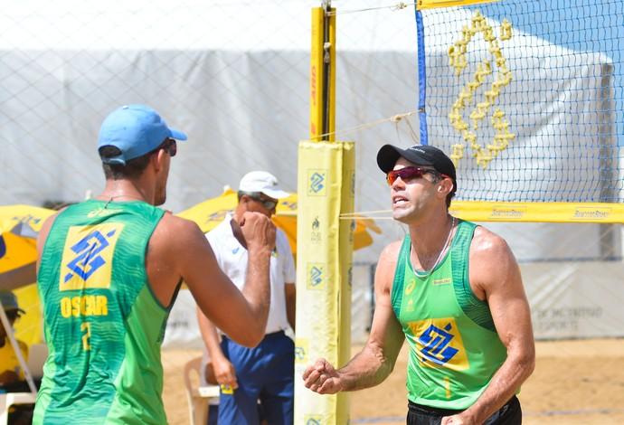 Oscar e Hevaldo são a única dupla masculina do Brasil em Xiamen  (Foto: MPIX/CBV/Divulgação)