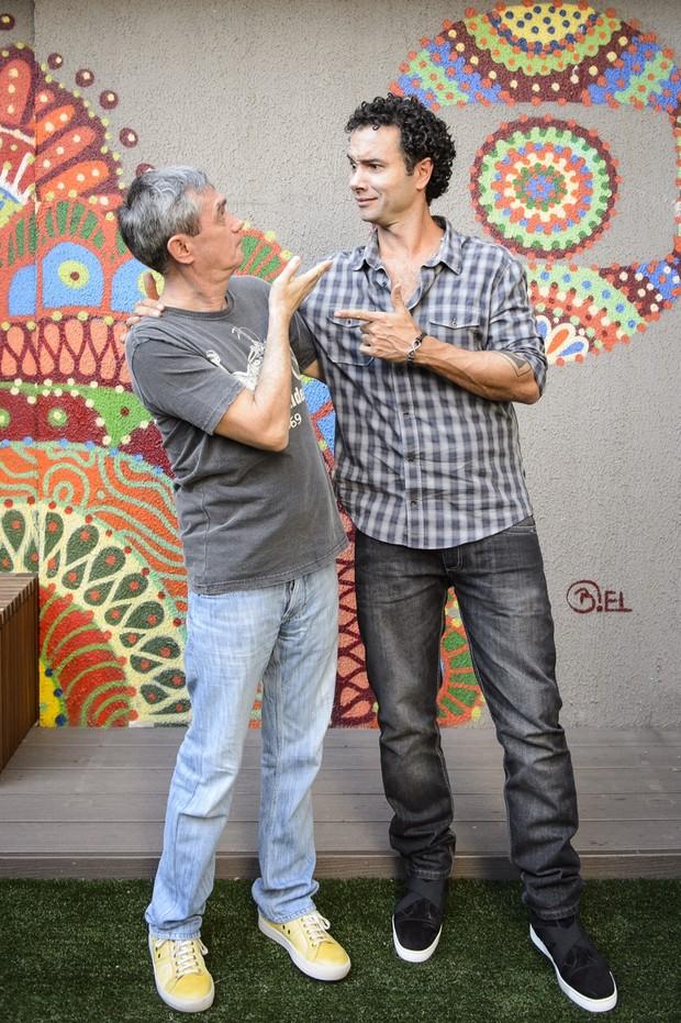 Marco Luque e Serginho Groisman (Foto: Globo / Ramón Vasconcelos)