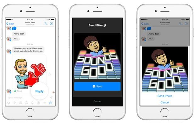 Facebook transformou seu aplicativo de bate-papo, o Messenger, em uma plataforma que será integrada a outros apps, como os de envio de GIFs. (Foto: Divulgação/Facebook)