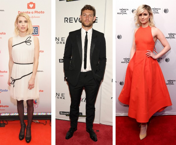 Emma Roberts, Alex Pettyfer e Dianna Agron (Foto: Getty Images)