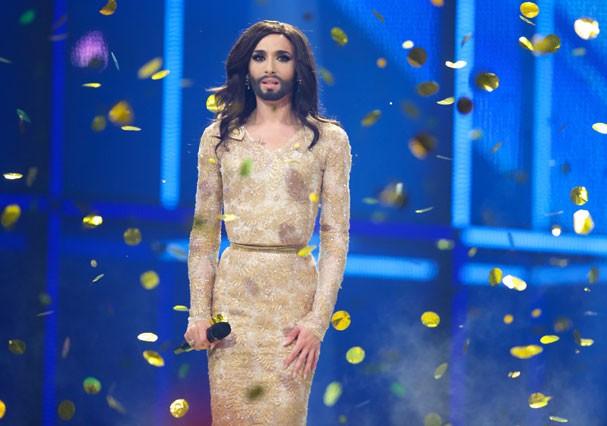 Conchita Wurst durante sua apresentação no Eurovision 2014  (Foto: Getty Images)