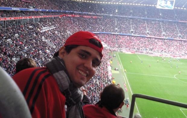 Gustavo Formiga já acompanhos seis jogos do time na Alemanha (Foto: Gustavo Formiga/Arquivo Pessoal)