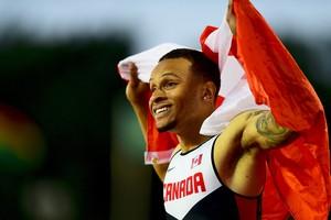 Pan de Toronto Andre De Grasse ouro 100m rasos Canadá (Foto: Wagner Carmo)
