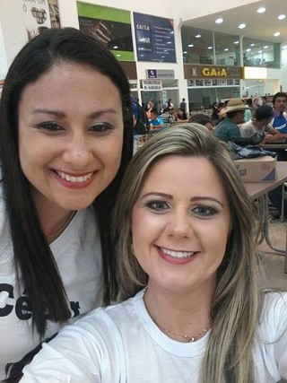Eliete Martins, a irmã de Cézar, com Bruna Wolf (Foto: Reprodução/ Instagram)