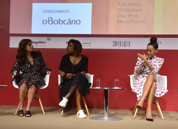 Maria Ribeiro, Gloria Maria e Taís Araújo (Foto: Fabio Cordeiro)