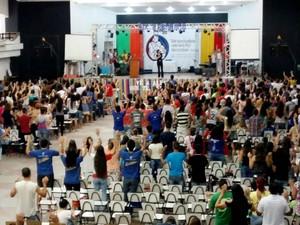Alegria contagiou os participantes do Rebanhão (Foto: Fábio Reis/TV Fronteira)