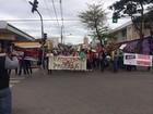 Manifestantes fazem ato contra governo Michel Temer em Itapetininga