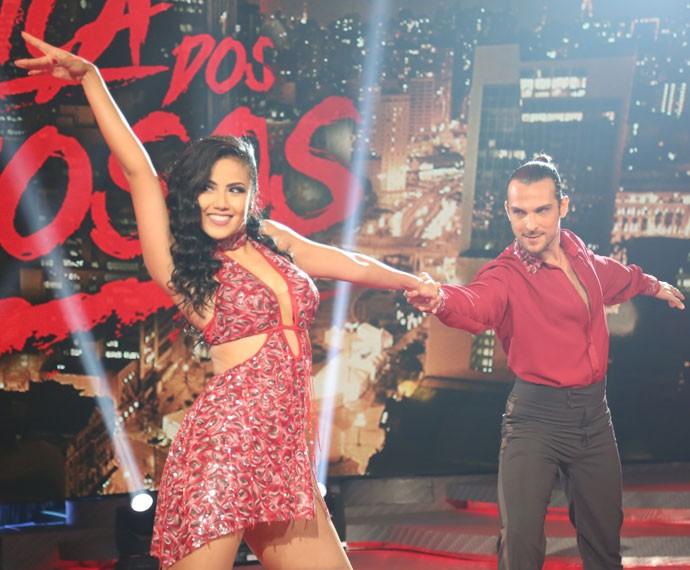 Suellem e Igor Rickli dominam a pista de dança do Domingão (Foto: Carol Caminha/Gshow)