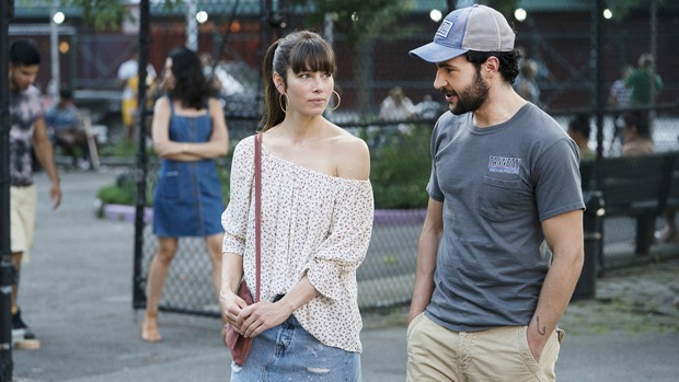 "THE SINNER -- ""Part II"" Episode 102 -- Pictured: (l-r) Jessica Biel as Cora Tannetti, Christopher Abbott as Mason Tannetti -- (Photo by: Peter Kramer/USA Network) (Foto: Peter Kramer/USA Network)"